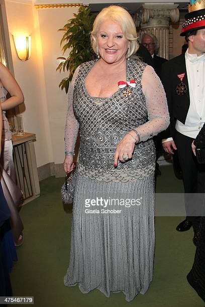 Marika Lichter attends the traditional Vienna Opera Ball at Vienna State Opera on February 27 2014 in Vienna Austria