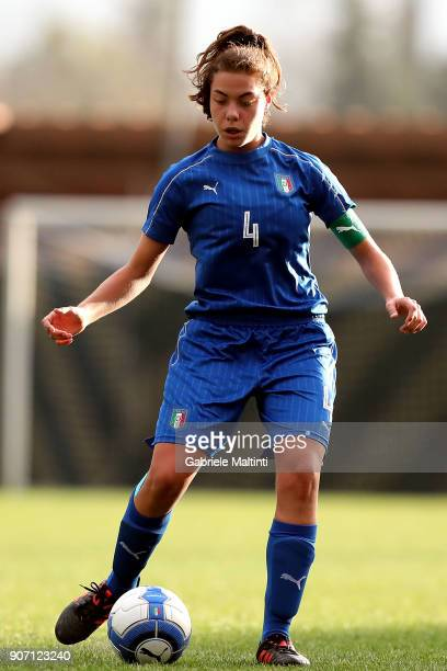 Marika Massimino of Italy u16 women in action during the U16 Women friendly match between Italy U16 and Slovenia U16 at Coverciano on January 19 2018...