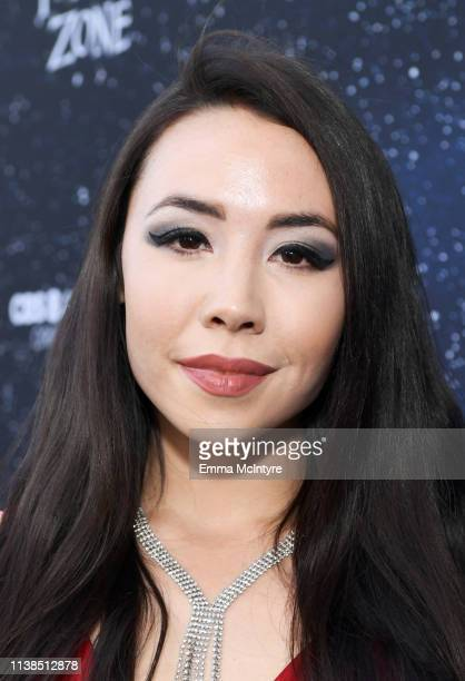 Marika Sila attends CBS All Access new series The Twilight Zone premiere at the Harmony Gold Preview House and Theater on March 26 2019 in Hollywood...