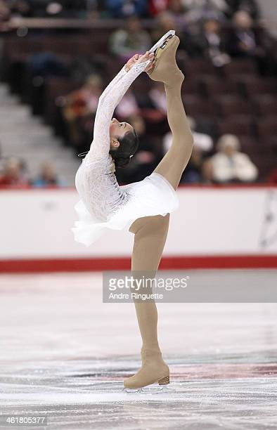 Marika Steward skates in the Senior Women Free Program during the 2014 Canadian Tire National Figure Skating Championships at Canadian Tire Centre on...