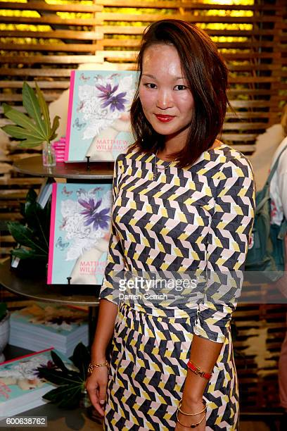 Mariko Kuo attends the book launch of Matthew Williamson Fashion Print Colouring by Laurence King Publishing at Anthropologie on September 8 2016 in...
