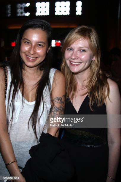 Mariko Munro and Kirsten Dunst attend THE KITCHEN Spring Gala Benefit 2009 at Capitale on May 20 2009 in New York City