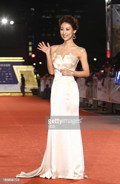 Mariko Okubo attends the red carpet of the 48th Golden Bell Award on October 25 2013 in Taipei Taiwan of China