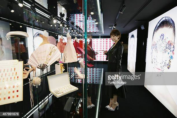 Mariko Shinoda attends the 'Esprit Dior' Opening Reception on October 28 2014 in Tokyo Japan