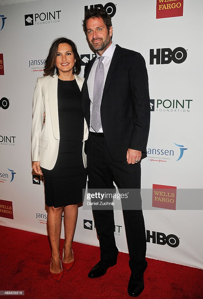Mariksa Hargitay and Peter Hermann attend the 2014 Point Honors New York gala at New York Public Library on April 7, 2014 in New York City.