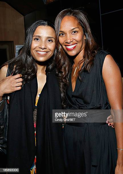 Marilee Fiebig and Mara Brock Akil attend the 2013 Black Girls Rock Shot Callers Dinner on October 25 2013 in New York City