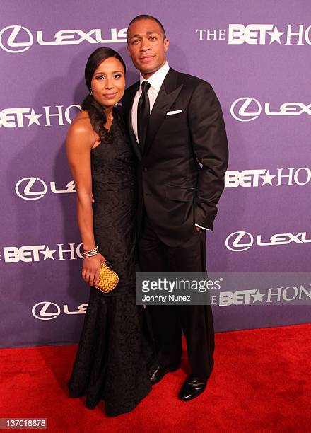 Marilee Fiebig and TJ Holmes attend BET Honors 2012 at the Warner Theatre on January 14 2012 in Washington DC