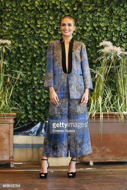 Marilena Succo attends 'Tu Mi Nascondi Qualcosa' photocall at Hotel Bernini on April 20 2018 in Rome Italy
