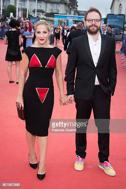 Marilou Berry and Arnaud Schneider arrive to the War Dogs premiere and Award Ceremony during the 42nd Deauville American Film Festival on September...