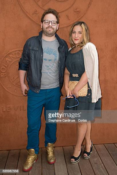 Marilou Berry and her companion Arnaud Schneider attend the Roland Garros French Tennis Open 2014