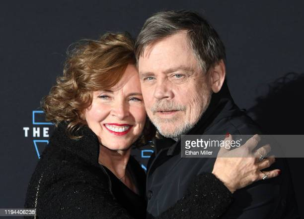"""Marilou Hamill and her husband, actor Mark Hamill, attend the premiere of Disney's """"Star Wars: The Rise of Skywalker"""" on December 16, 2019 in..."""