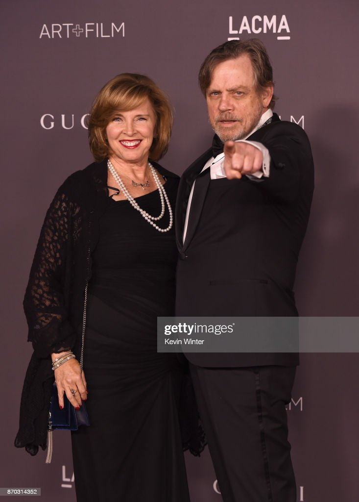 Marilou York (L) and actor Mark Hamill attend the 2017 LACMA Art + Film Gala Honoring Mark Bradford And George Lucas at LACMA on November 4, 2017 in Los Angeles, California.