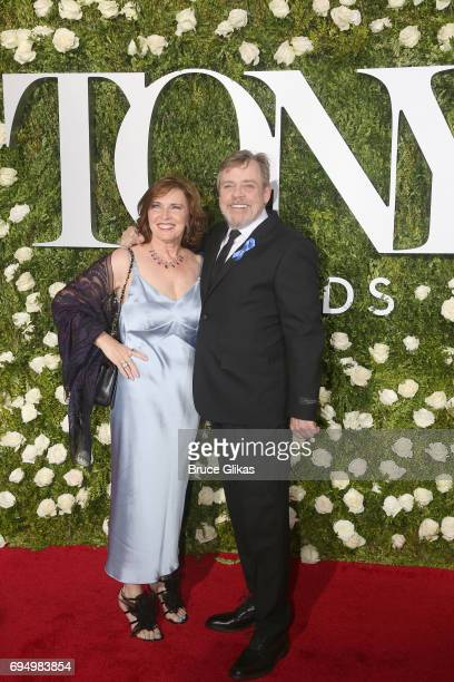 Marilou York and actor Mark Hamill attend the 71st Annual Tony Awards at Radio City Music Hall on June 11 2017 in New York City