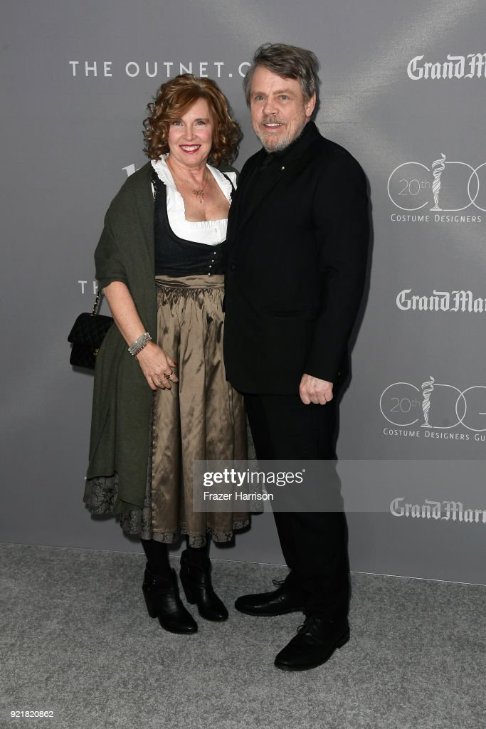 Marilou York (L) and actor Mark Hamill attend the Costume Designers Guild Awards at The Beverly Hilton Hotel on February 20, 2018 in Beverly Hills, California.