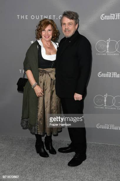 Marilou York and actor Mark Hamill attend the Costume Designers Guild Awards at The Beverly Hilton Hotel on February 20, 2018 in Beverly Hills,...