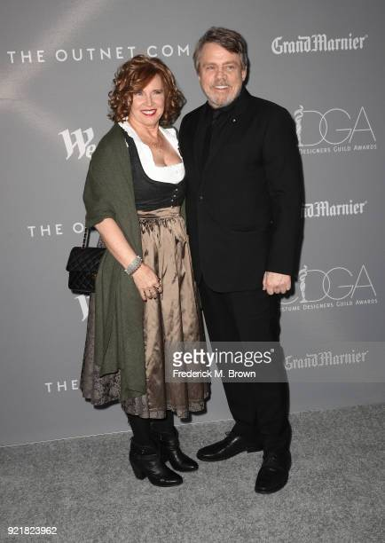 Marilou York and actor Mark Hamill attend the Costume Designers Guild Awards at The Beverly Hilton Hotel on February 20 2018 in Beverly Hills...