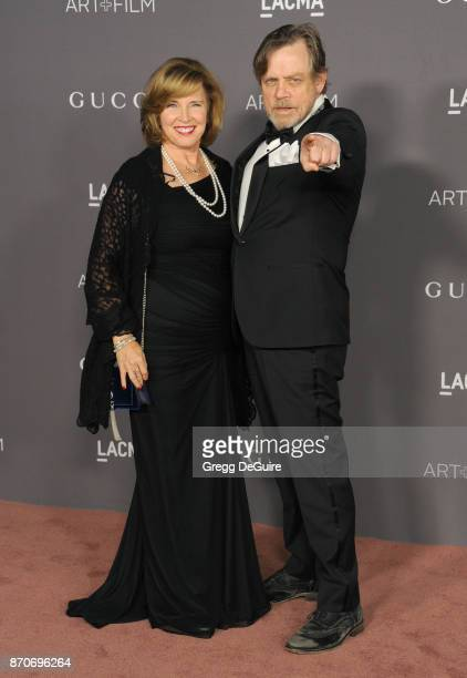 Marilou York and Mark Hamill arrive at the 2017 LACMA Art + Film Gala honoring Mark Bradford and George Lucas at LACMA on November 4, 2017 in Los...