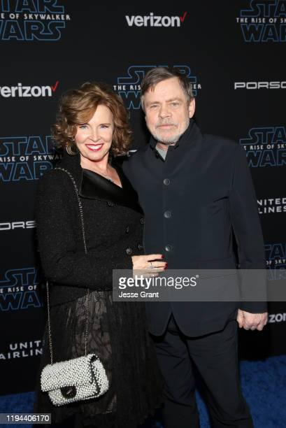 "Marilou York and Mark Hamill arrive for the World Premiere of ""Star Wars: The Rise of Skywalker"", the highly anticipated conclusion of the Skywalker..."