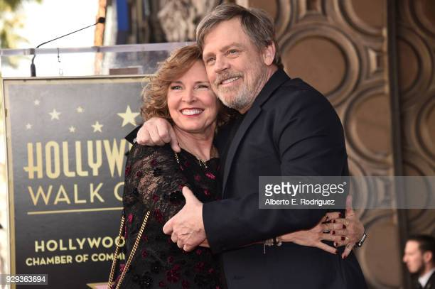 Marilou York and Mark Hamill at Mark Hamill's star ceremony on the Hollywood Walk of Fame on March 8 2018 in Hollywood California