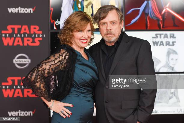 "Marilou York and Mark Hamill attend Premiere Of Disney Pictures And Lucasfilm's ""Star Wars: The Last Jedi"" - Arrivals at The Shrine Auditorium on..."