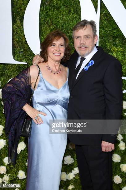 Marilou York and Mark Hamill attend the 2017 Tony Awards at Radio City Music Hall on June 11 2017 in New York City