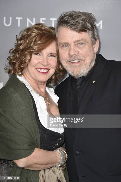 Marilou York and Mark Hamill attend the 20th CDGA - Arrivals on February 20, 2018 in Beverly Hills, California.