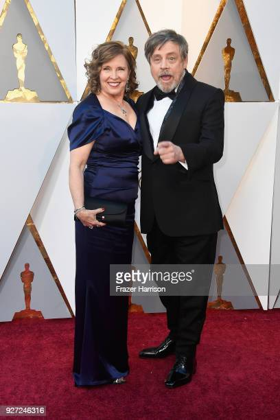 Marilou York and Mark Hamill attend the 90th Annual Academy Awards at Hollywood Highland Center on March 4 2018 in Hollywood California