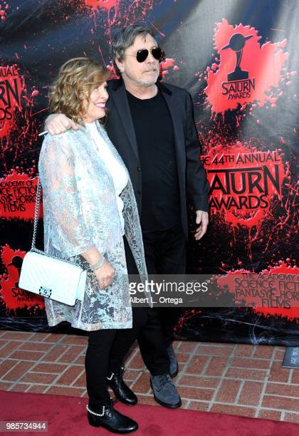 Marilou York and Mark Hamill attend the Academy Of Science Fiction Fantasy Horror Films' 44th Annual Saturn Awards at The Castaway on June 27 2018 in...