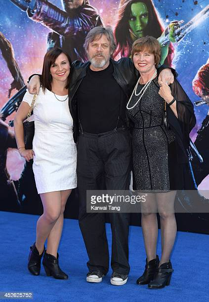 Marilou York and Mark Hamill attend the European Premiere of Guardians of the Galaxy at Empire Leicester Square on July 24 2014 in London England