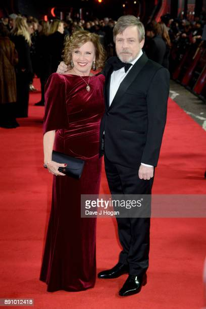 Marilou York and Mark Hamill attend the European Premiere of 'Star Wars: The Last Jedi' at Royal Albert Hall on December 12, 2017 in London, England.