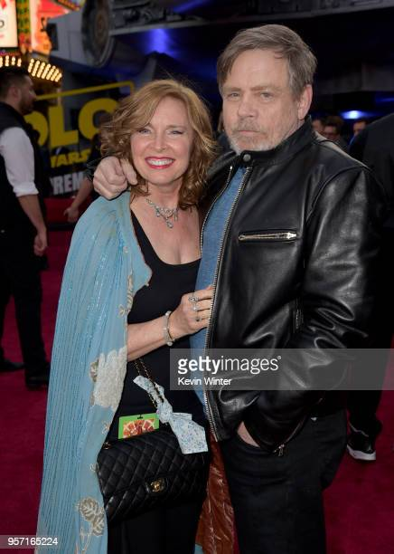Marilou York and Mark Hamill attend the premiere of Disney Pictures and Lucasfilm's 'Solo A Star Wars Story' at the El Capitan Theatre on May 10 2018...