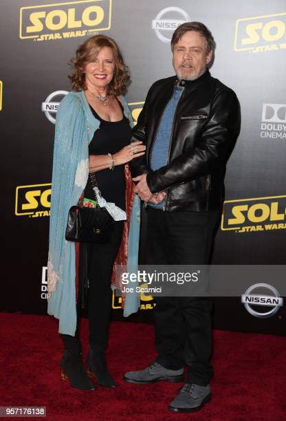 "Marilou York and Mark Hamill attend the premiere of Disney Pictures and Lucasfilm's ""Solo: A Star Wars Story"" at the El Capitan Theatre on May 10,..."