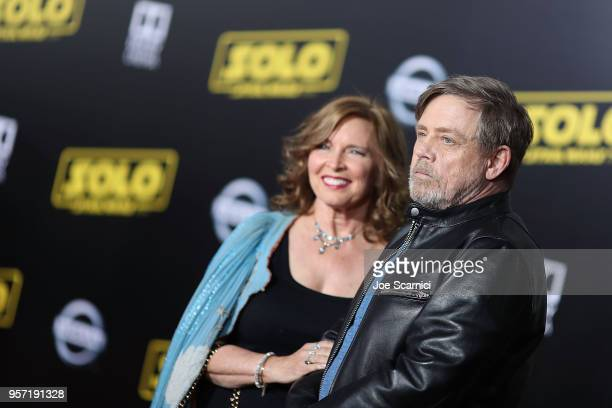 Marilou York and Mark Hamill attend the Premiere of Disney Pictures and Lucasfilm's 'Solo A Star Wars Story' on May 10 2018 in Los Angeles California