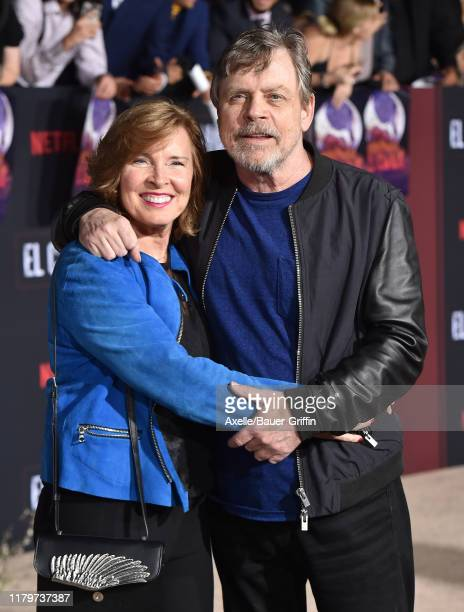 "Marilou York and Mark Hamill attend the Premiere of Netflix's ""El Camino: A Breaking Bad Movie"" at Regency Village Theatre on October 07, 2019 in..."