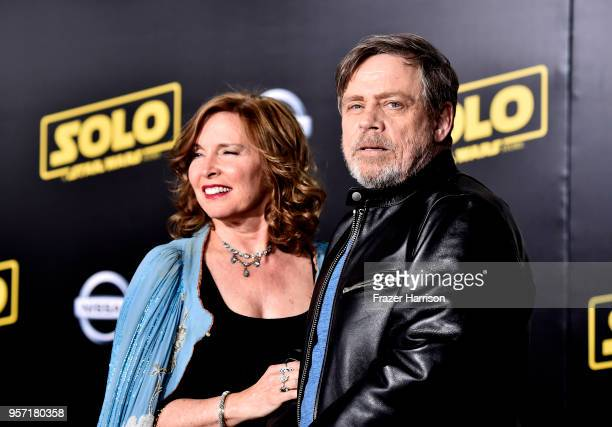 Marilou York and Mark Hamill attends the Premiere Of Disney Pictures And Lucasfilm's 'Solo A Star Wars Story' Arrivals on May 10 2018 in Los Angeles...