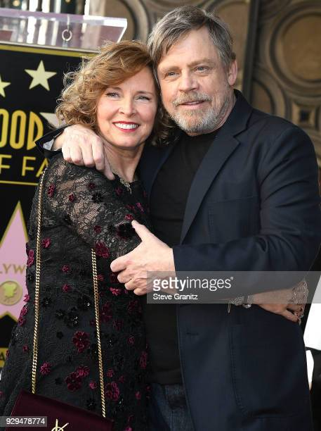 Marilou York and Mark Hamill Honored With Star On The Hollywood Walk Of Fame on March 8 2018 in Hollywood California