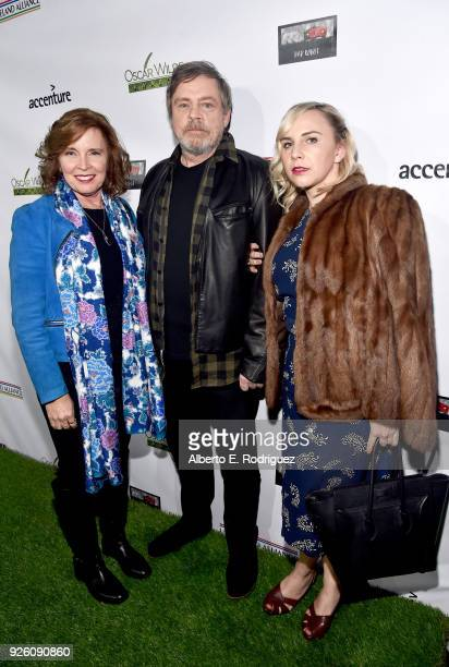 Marilou York, Mark Hamill, and Chelsea Hamill attend the Oscar Wilde Awards 2018 at Bad Robot on March 1, 2018 in Santa Monica, California.