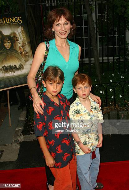 Marilu Henner and children during The Lord of the Rings The Fellowship of the Ring Benefit for the Creative Coalition at The Boat House in Central...