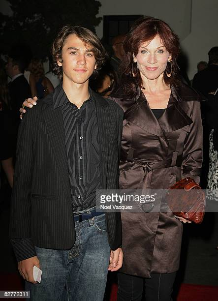Marilu Henner and her son Nick attend the A Bronx Tale Opening Night at the Wadsworth Theatre on September 10 2008 in Los Angeles California