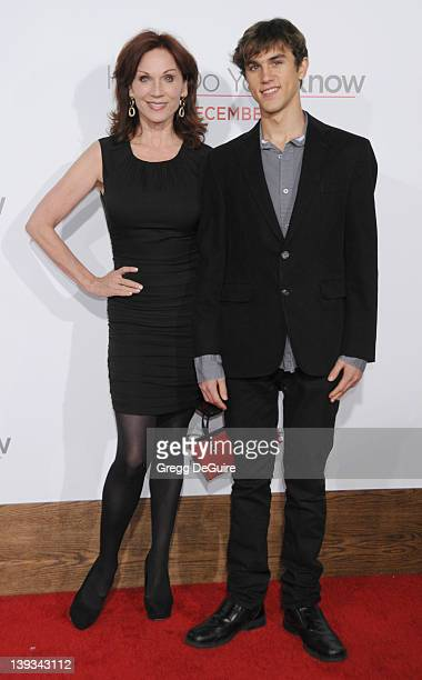 Marilu Henner and son arrive at the World Premiere of How Do You Know at the Regency Village Theater on December 13 2010 in Westwood California