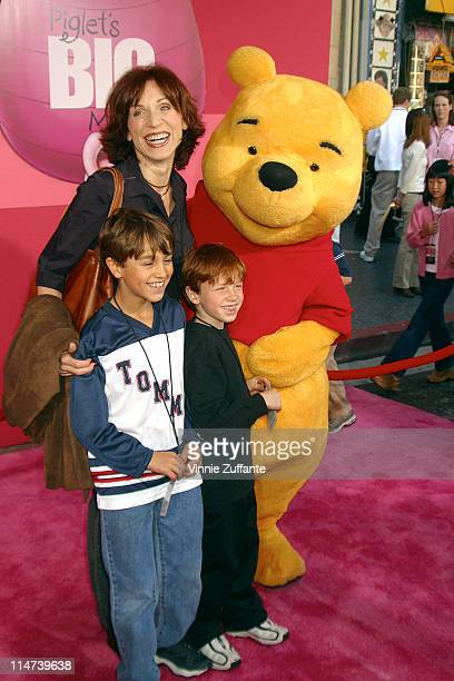 Marilu Henner and sons adttending the premiere of Piglet's Big Movie at the El Capitan Theatre in Hollywood Ca 03/16/03