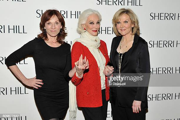 Marilu Henner Carmen Dell'Orefice and Sherri Hill attend the Sherri Hill Fall 2016 fashion show during New York Fashion Week The Shows on February 12...