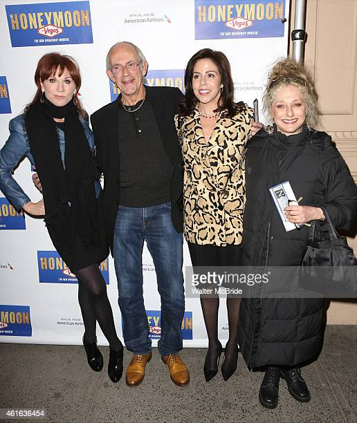 Marilu Henner Christopher Lloyd with wife Jane Walker Wood and Carol Kane attend the Broadway Opening Night Performance of 'Honeymoon in Vegas' at...