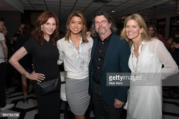 Marilu Henner Grace Park and Ronald D Moore attend the closing night Battlestar Galactica reunion and afterparty presented by Entertainment Weekly...