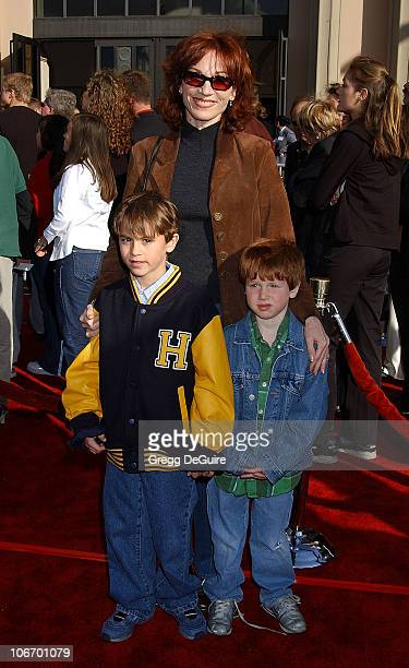 Marilu Henner kids Nicolas Joseph during 20th Anniversary Premiere of Steven Spielberg's ET The ExtraTerrestrial Red Carpet at Shrine Auditorium in...