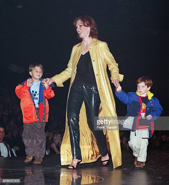 Marilu Henner out with her sons to raise money for the fight against AIDS