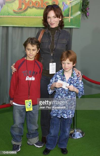 Marilu Henner son guest during The Jungle Book 2 Premiere at The El Capitan Theater in Hollywood California United States