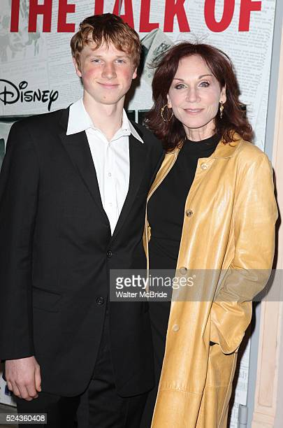 Marilu Henner son Joseph attending the Broadway Opening Night Performance of 'Newsies The Musical' at the Nederlander Theatre in NewYork City on...