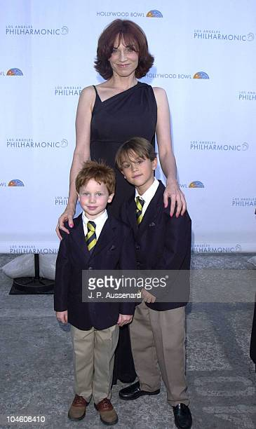 Marilu Henner sons Joe Nikky during Hollywood Bowl Season Opening 2nd Hall Of Fame Induction Gala at Hollywood Bowl in Hollywood California United...