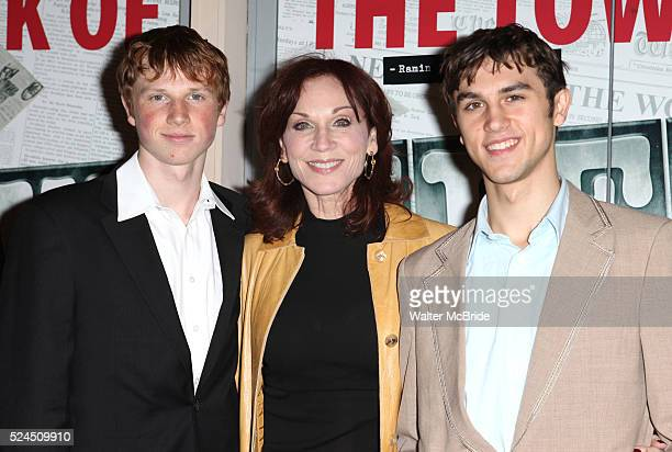 Marilu Henner sons Joseph Nicholas attending the Broadway Opening Night Performance of 'Newsies The Musical' at the Nederlander Theatre in NewYork...